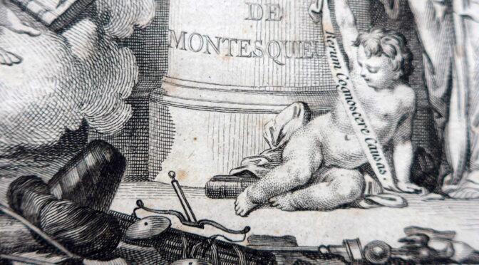"""Vom """"Bild"""" der Gesetze – Montesquieus """"De l'esprit des loix"""" im Spiegel eines Kupferstichs aus einer französischsprachigen Werkausgabe"""