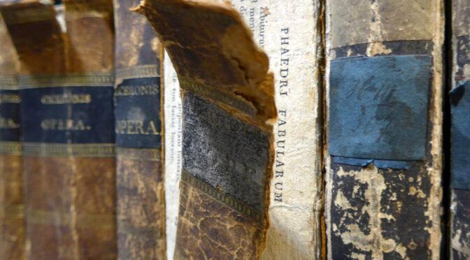 Hinter der Weltliteratur – Makulatur in einer Cicero-Werkausgabe aus der historischen Bibliothek des Ratsgymnasiums Bielefeld